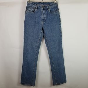 L.L. Bean Woman Jeans Sz 10 Tall Denim Vlue